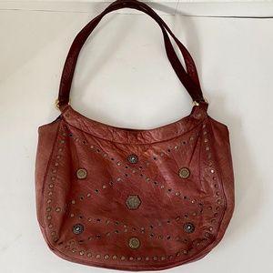 Franco Sarto Studded Leather Shoulder Bag